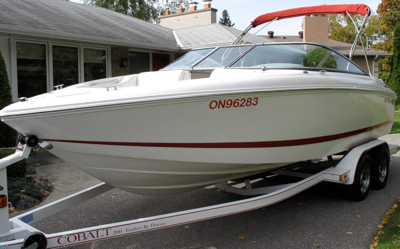 Absolutely Mint 2004 Cobalt 200BR, White/Red, Merc 300HP, 350 mag Bravo 111, ...